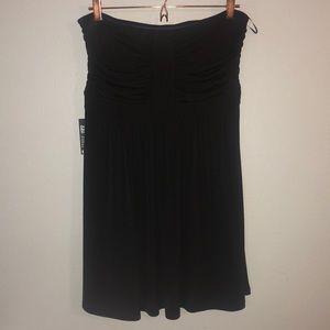 Express Convertible Strapless Black Dress